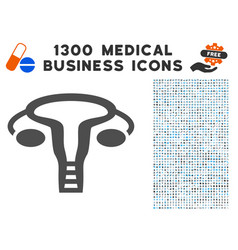 Vagine icon with 1300 medical business icons vector