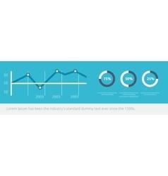 Website Infographic Chart Design Flat vector image vector image