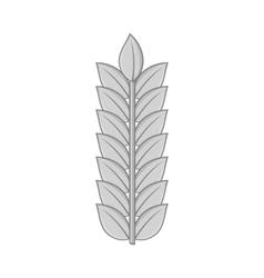 Wheat icon black monochrome style vector image vector image