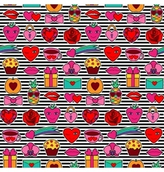 Romantic Coloring Seamless Pattern vector image