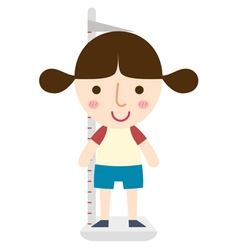 Girl height vector