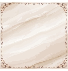 Marble background with ornate frame border vector