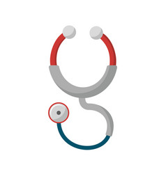 Red stethoscope medical tool revision vector