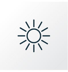 Sunshine outline symbol premium quality isolated vector