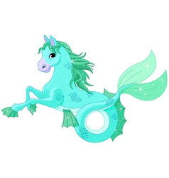 Mythological sea horse vector