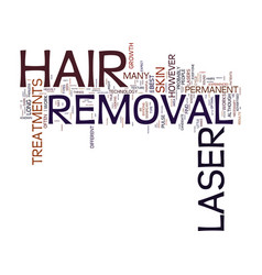 Laser hair removal faq text background word cloud vector