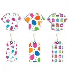 T- shirts and tags vector image