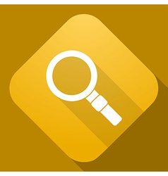 Icon of magnifier with a long shadow vector