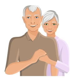 Senior couple portrait vector