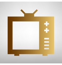 Tv sign flat style icon vector