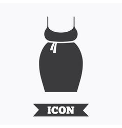 Pregnant woman dress sign icon maternity symbol vector