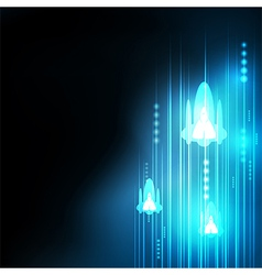 Abstract blue rocket technology communicate vector