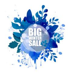 Big winter sale background vector