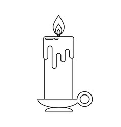 candle in flat style vector image