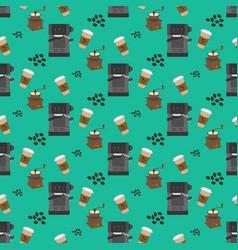 Coffee machine pattern vector