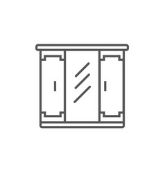 cupboard isolated icon in linear style vector image vector image