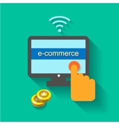 E-Commerce Concept vector image vector image