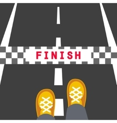 Finish line road sign vector image vector image