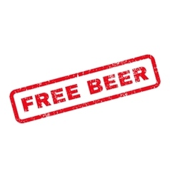 Free beer text rubber stamp vector