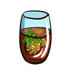 GlassWithLemonade vector image