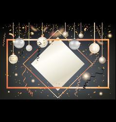 golden holiday frame card vector image