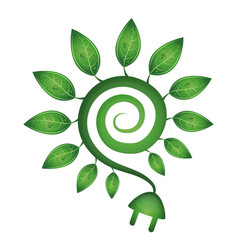 Green energy symbol vector