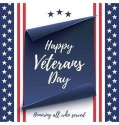 Happy veterans day background vector