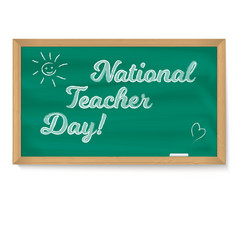national holiday happy teacher day school vector image