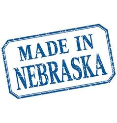 Nebraska - made in blue vintage isolated label vector
