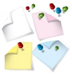 notepaper vector image vector image