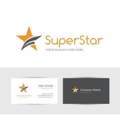 Orange star logo vector image