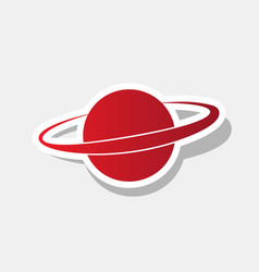 Planet in space sign new year reddish vector