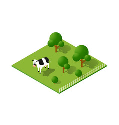 Rural countryside ecological landscape farm with vector
