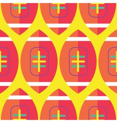 Seamless Rugby Pattern Rugby Pattern vector image vector image
