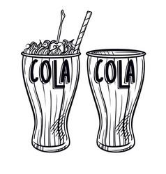 Soda drawing hand drawn soda vector