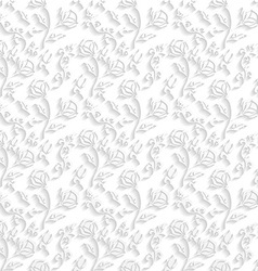 White Floral Wallpaper vector image