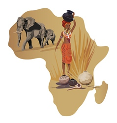 Africa Wildlife Culture vector image