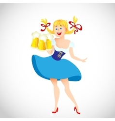 cute cartoon Oktoberfest girl vector image