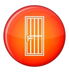 Steel door icon flat style vector
