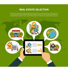 Real estate selection concept vector