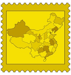China on stamp vector