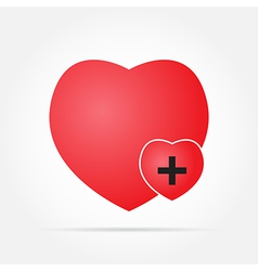 Heart in care vector