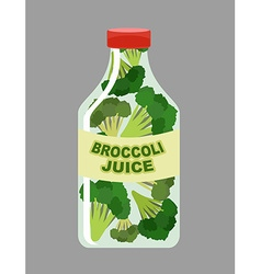 Broccoli juice juice from fresh vegetables vector