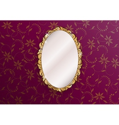Golden mirror vector image