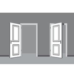 Black door vector