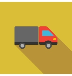 Shipment flat long shadow square icon vector