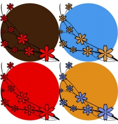 floral backgrounds vector image