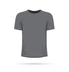 A grey t-shirt vector
