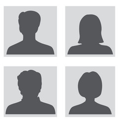 Avatar set people profile silhouettes vector