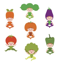 Baby vegetables and fruits clipart vector